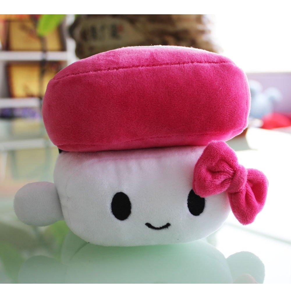 Missley Cucina giapponese Sushi cuscino ammortizzatore sveglio peluche cuscino bello per dormire in camera Decoration (rosa rossa)