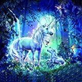Dorara Diamond painting kits,Paint by numbers for adults,, unicorn,animals.12X12 Inches