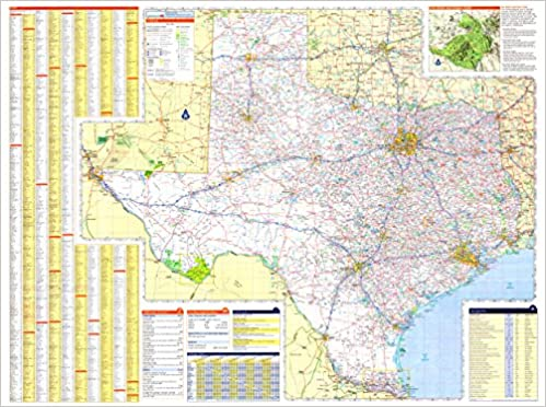 X Texas State Official Executive Laminated Wall Map TX Dept - State map of tx