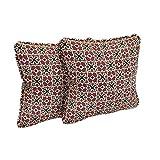 hampton bay outdoor pillow - Hampton Bay Fall River Red Outdoor Throw Pillow (4-Pack)