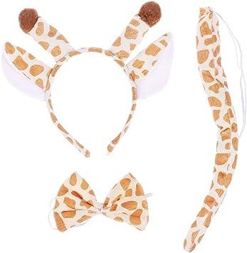 Zebra Orecchie /& Coda Set Cerchietto Costume LIBRO Costume Accessorio Adulto Bambino