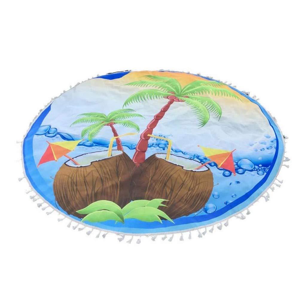 Sakj-c Und Runder Tapisserie-Strand-Wurf Roundie Towel Yoga-Matte
