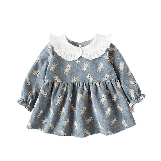 c6ef9687dc58c Amazon.com: Nlyefa Baby Toddler Girls Winter Princess Dress Cotton ...