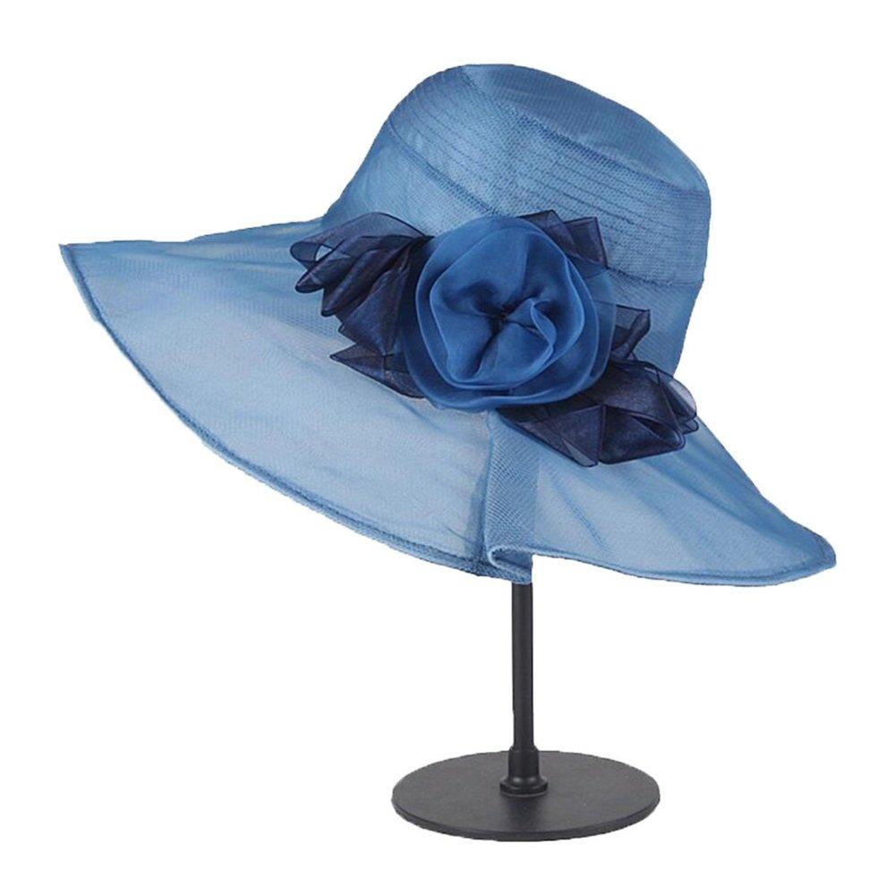 HATDOU Frühling und Sommer saisonale Seidenhüte können im koreanischen Stil gefaltet Werden. Freizeit Leichtgewichtig, langlebig