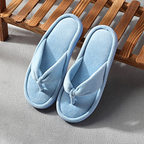 Fluffy For Indoor On Inflation Outdoor Flops Women's Blue Women Slippers Slip House Flip Thong p0Sp6P
