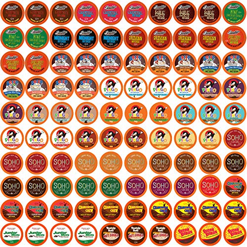 Two Rivers Chocolate Hot Cocoa Single-Cup Sampler Pack for Keurig K-Cup Brewers, 100 Count (Hot Chocolate K Cups Sampler)