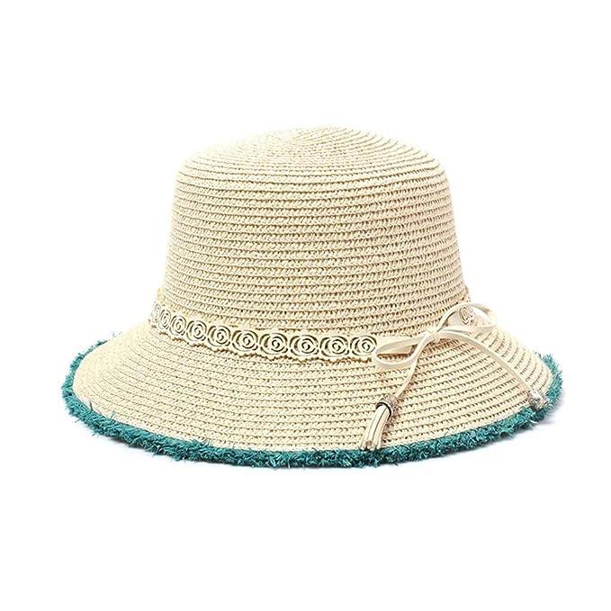 dab8d79380622 Sombrero para El Sol Mujer Verano De ala Ancha Playa Basic Chapeau Floppy  Sombr  Amazon.es  Ropa y accesorios