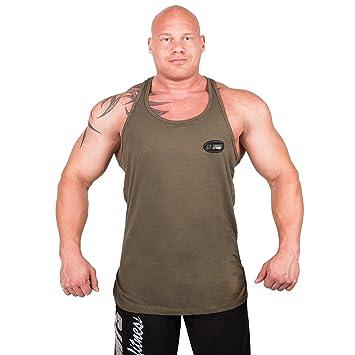 C.P. Sports S6 Olympian - Camiseta de entrenamiento para hombre tirantes, Hombre, OLIV, XL: Amazon.es: Deportes y aire libre