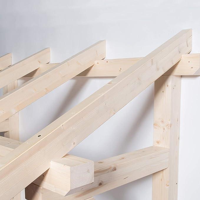 Holztech Leimholz Balken 100x100mm Pultdach Haust/ürvordach T/ür Haust/ür /Überdachung Vordach Holz , Breite Pfetten 150cm Sparrenl/änge Tiefe 145cm TUGA