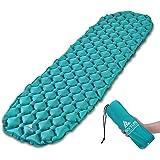 Hikenture Ultralight Sleeping Mat | Backpacking Sleeping Pad-Compact Inflatable Camping Air Mattress Pad for Camping…