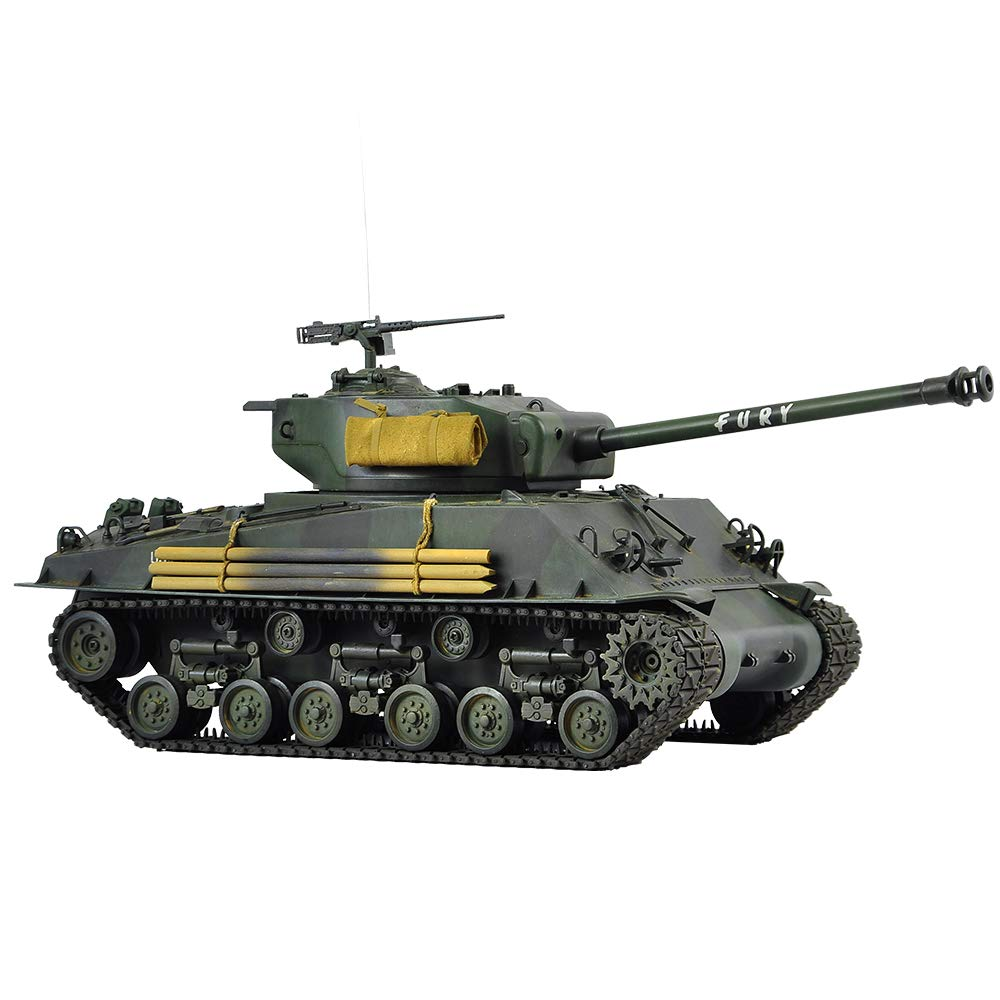 Hooben 1:16 U.S. Fury M4A3E8 Sherman MEDIUM Tank RTR Zusammengebaut und bemalt Ready to Run Inside VCU [D6603F01]
