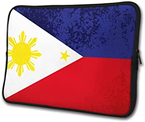 SWEET-YZ Laptop Sleeve Case Filipino Flag Notebook Computer Cover Bag Compatible 13-15 Inch Laptop