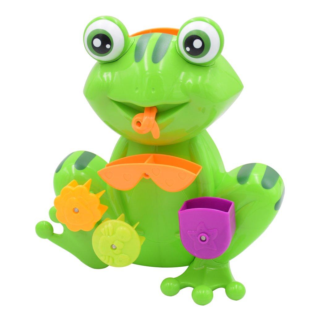 Amazon.com: Seprovider Bath Toy, Green Frog Bathtime Fun Toys with 4 ...