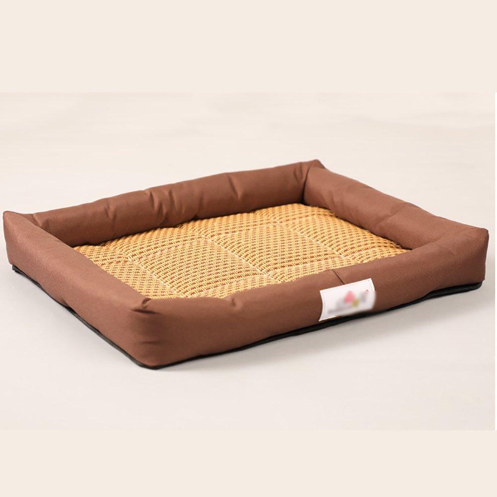 spedizione veloce a te Juneping Estate Cool Mat Mat Mat Matel Kennel Pet Bed Cat Litter Dog Supplies (colore  Marronee, Taglia  XL) Gatto Letto  di moda
