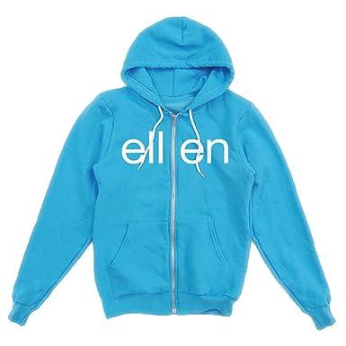 036c83d42 Amazon.com: Classic ellen Show Hoodie - Neon Blue: Clothing