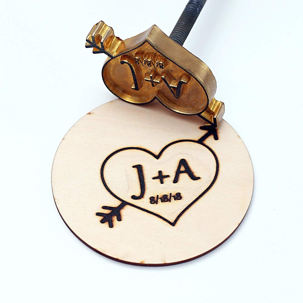 Custom Logo Wood Branding Iron,Durable Leather Branding Iron Stamp (2''x2'')
