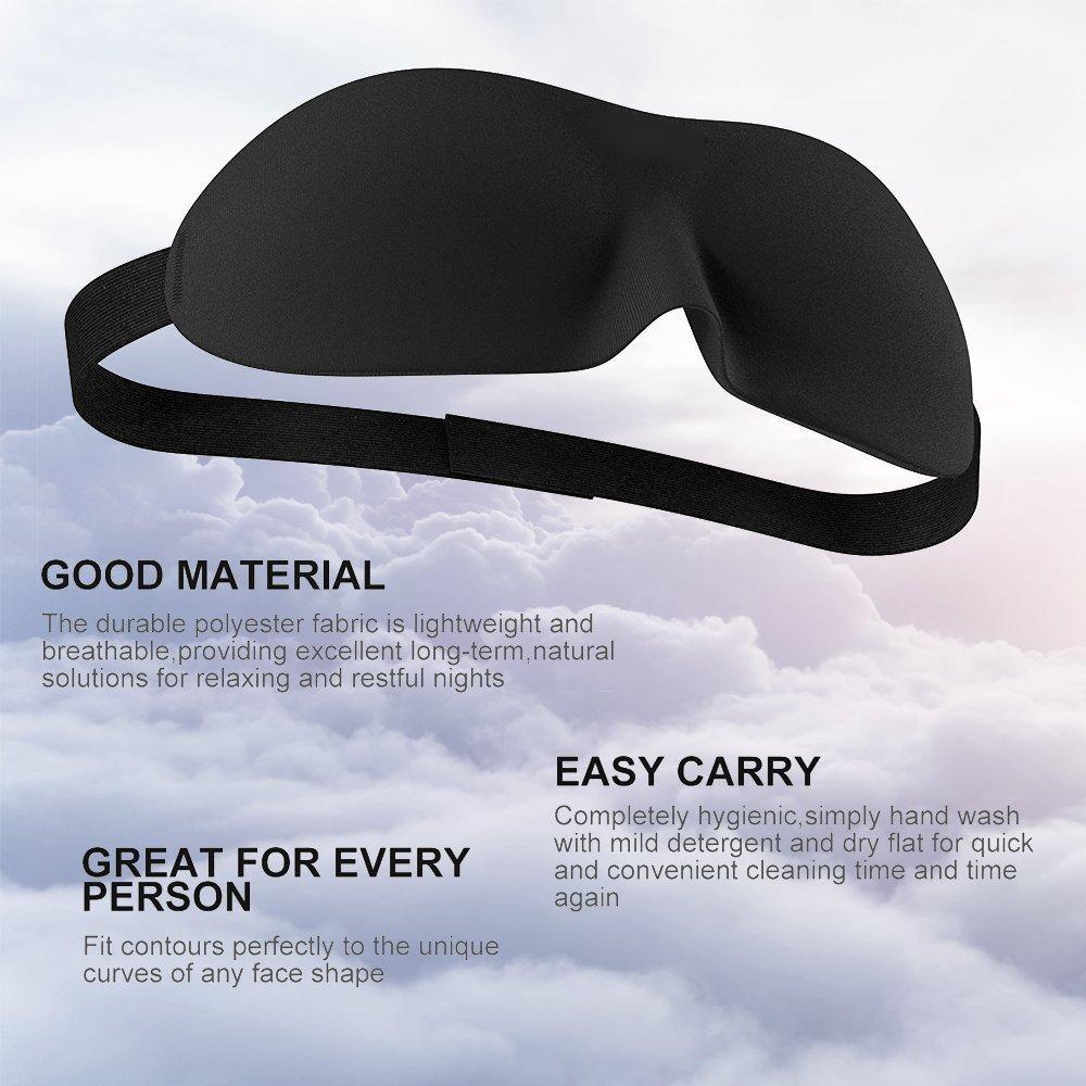 Sleep Mask for Women and Men by RiptGear - 3D Contoured Ultralight No Pressure Eye Mask for Sleep & Travel - Comfortable Sleeping Mask by RiptGear (Image #8)