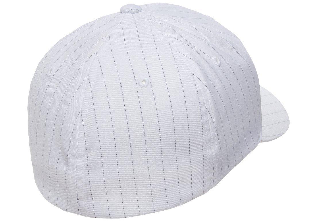 7373ac8b62065 Amazon.com  Original Flexfit Pinstripe Hat Baseball Blank Cap Fitted Flex Fit  6195P Large   Xlarge - White   Black  Everything Else