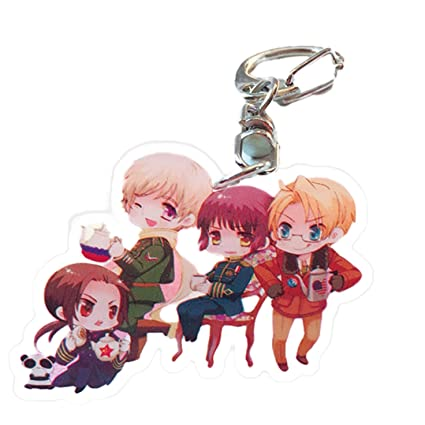 Anime Axis Powers Hetalia APH Key Chain Key Ring Acrylic Pendant Cosplay Gift