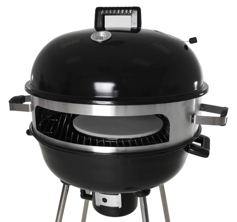 Zenvida Outdoor Pizza Oven/Kettle Grill 22.5'' Charcoal Wood Portable BBQ by Zenvida