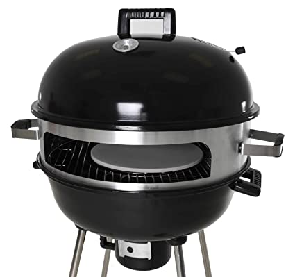 Bbq Pizza Oven.Zenvida Outdoor Pizza Oven Kettle Grill 22 5 Charcoal Wood Portable Bbq
