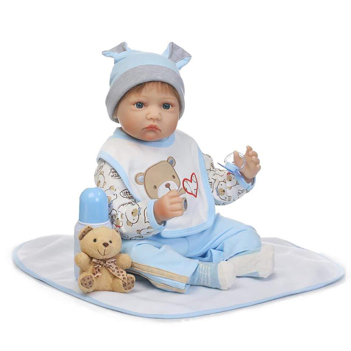 55cm de Silicona Suave Vinilo muñeca de Seguro no tóxico Juguetes Hechos a Mano Adorable Precioso Realista Playmate Regalo Americano de la muñeca