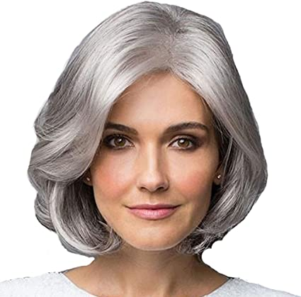 Peluca de mediana edad y vieja para mujer, moda europea y ...
