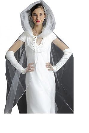 originale tole de mariage cape entulle de grande longueur blanche ou ivoire unique - Etole Blanche Pour Mariage