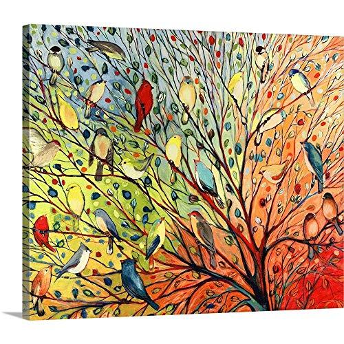 "GREATBIGCANVAS Gallery-Wrapped Canvas Entitled Twenty Seven Birds by Jennifer Lommers 40""x34"" from GREATBIGCANVAS"