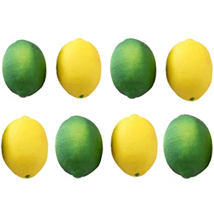 Amazon Buytra 8 Pack Artificial Fake Lemons Limes Fruit For