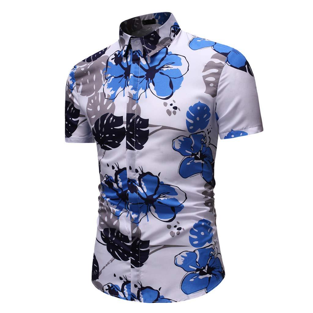 Hawaiian Shirt Mens Flower Leaf Beach Aloha Party Casual Holiday Short Sleeve Vest Tank Tops T Shirts