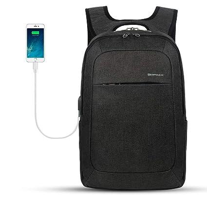 c580272d700 KOPACK Lightweight Laptop Backpack USB Port 15.6 Inch Business Slim Commute  Travel Bag