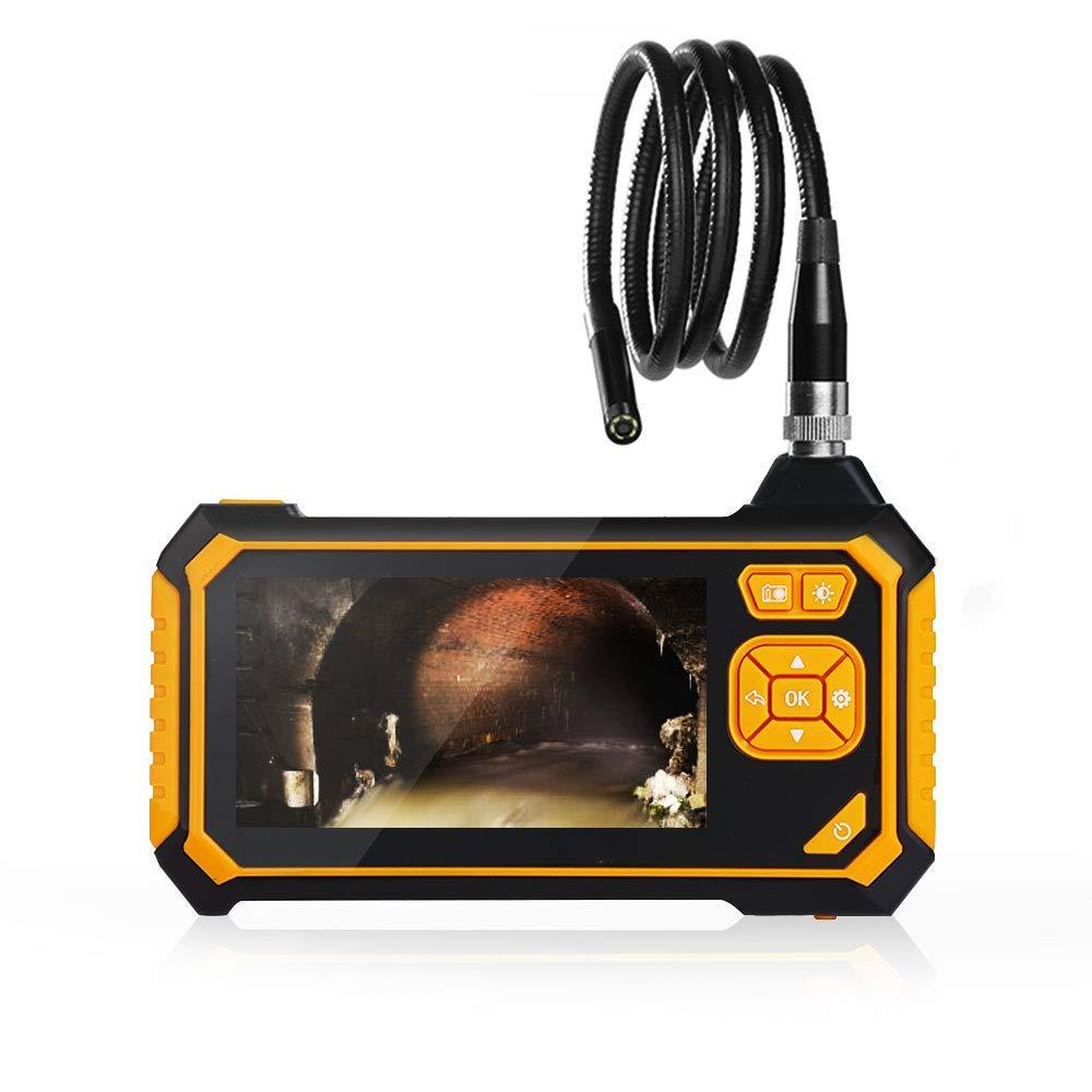1M 1 M Zorara Endoskop,Industrie endoskop 4,3-Zoll-LCD-Digital,wasserdichter 1080P HD-Videobildschirm mit digitaler Erkennungskamera und 2600-mAh-Lithiumbatterie