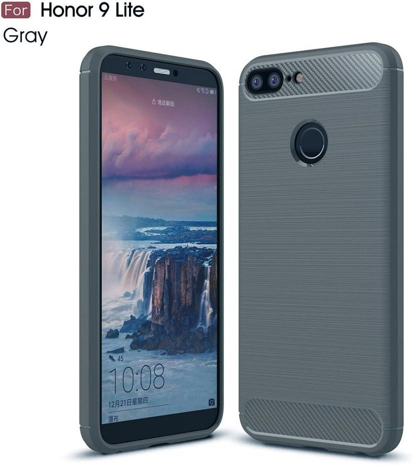 GOGME Funda para Huawei Honor 9 Lite, Slim Silicona Case, Gris ...