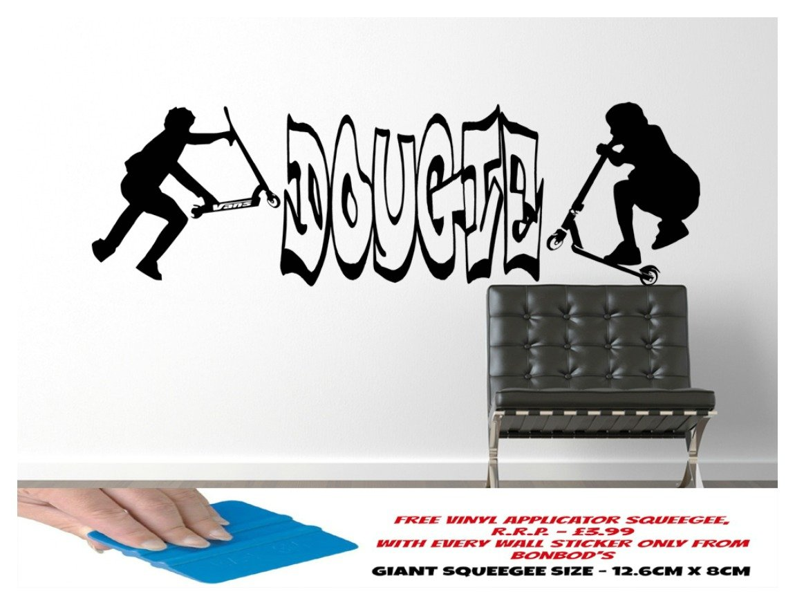 Stunt scooter wall sticker boys bedroom boys room bmx stunt scooter wall sticker boys bedroom boys room bmx skateboarder teenager personalised with any name giant 1 metre wide amazon kitchen home amipublicfo Gallery