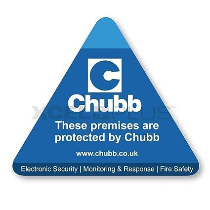 protegido por Chubb Triangular alarma ventana y puerta ...