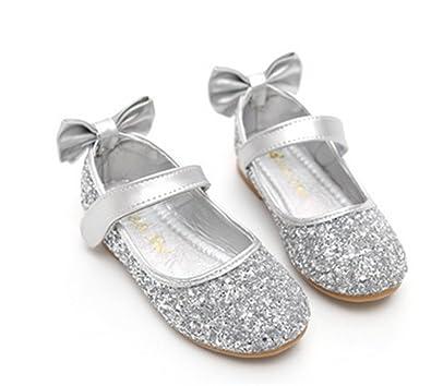 YOGLY Mädchen Ballerinas Festlich Schuhe StudentenTanzschuhe Kinder  Prinzessin Studenten Lederschuhe Baby Mädchen Niedlich Prinzessin 05a2ea1ffe