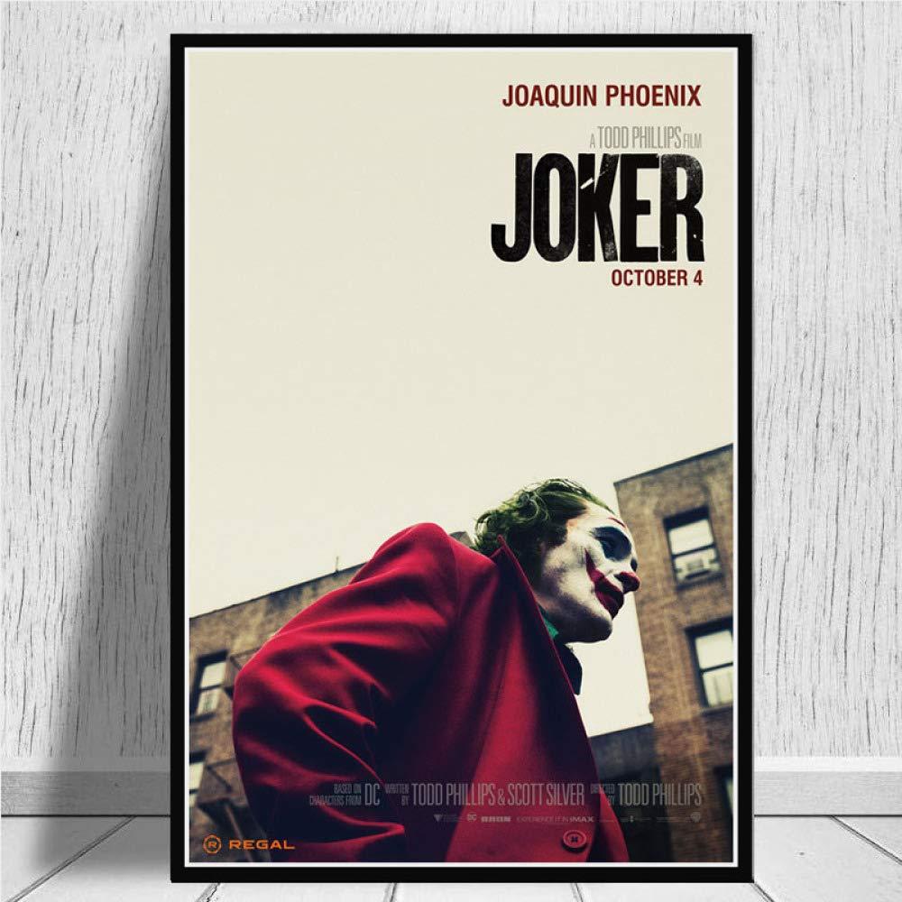 yhyxll Poster Drucke Joker Poster Joaquin Phoenix Film 2019 DC Comic Kunst Leinwand /Ölgem/älde Wandbilder F/ür Wohnzimmer Wohnkultur N 50X75 cm