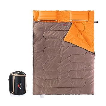 tentock 2 persona invierno térmica saco de dormir, outdoor Camping adultos saco de dormir grueso con 2 almohadas inflables, albaricoque: Amazon.es: Deportes ...