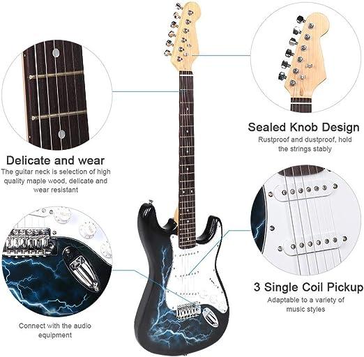 Jacksking Guitarra eléctrica, práctica para Principiantes Juego de ...