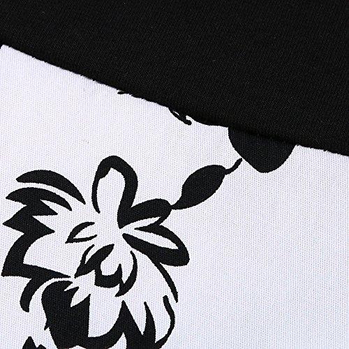 Birdfly Dal Esterno Casuale Nero Canotte Donne Girasole Più Del Della Puri Estate 2l Pannello Di Stampa Bianco Vestito Formato rO8qrYpw