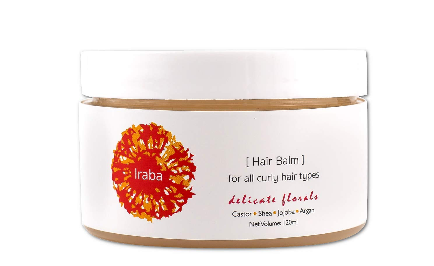 Iraba Hair Balm - Natural Curly Hair Care Oil by Iraba Cosmetics - For All Curly Hair Types - Water Free