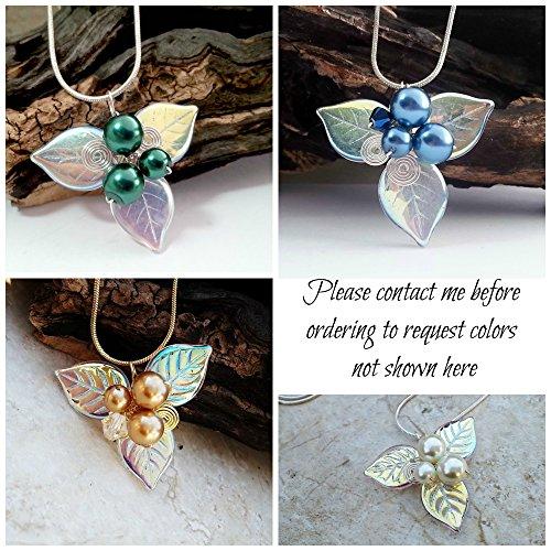Woodland Triquetra Necklace Celtic Blue