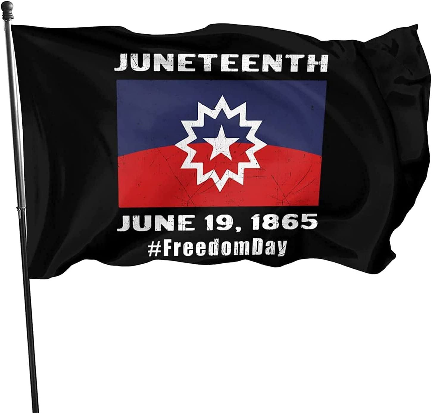 coolcool Juneteenth Day Outdoor Flag Home Garden Flag Banner Breeze Flags for Home Decor 3x5 Foot-A10