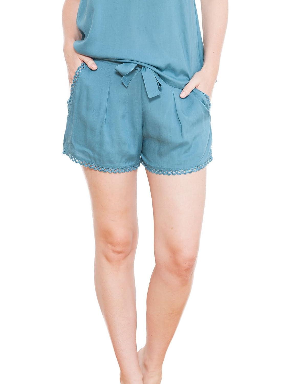 Cyberjammies 3665 Women's Grace Jade Green Solid Colour Pajama Pyjama Short