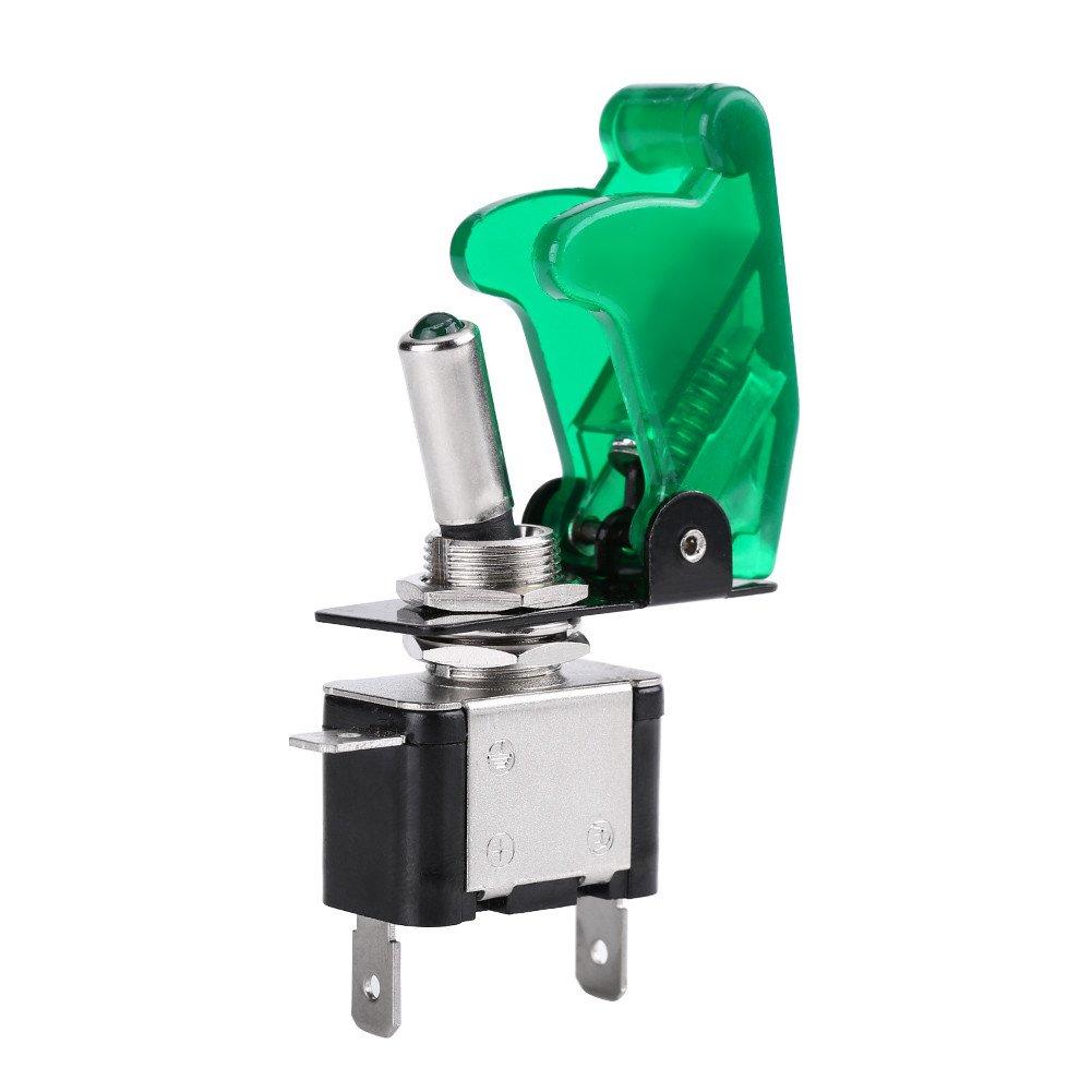 12V 20A Interruttore luce LED auto LED Light SPST Interruttore a bilanciere Interruttore On//Off White Interruttore LED auto