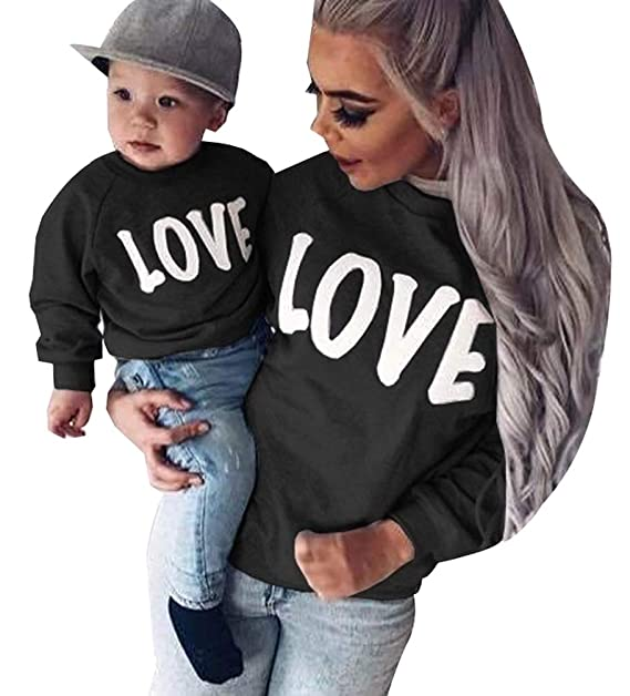 b5fe136e Mom Kids Adult Matching Family Sweatshirts Pullover Jumpers for ...