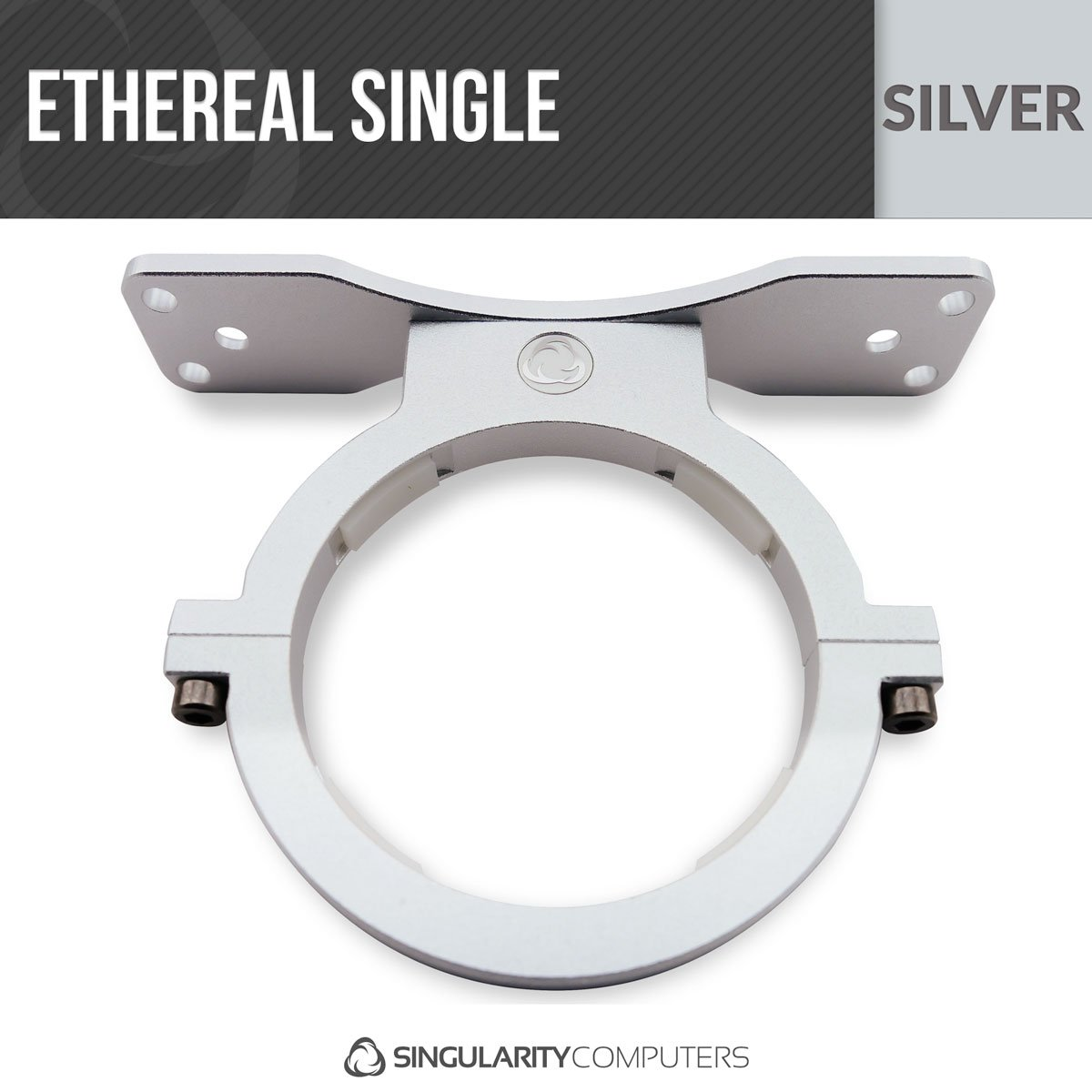 Singularity Computers Ethereal Single V3 Reservoir Mounts - Silver
