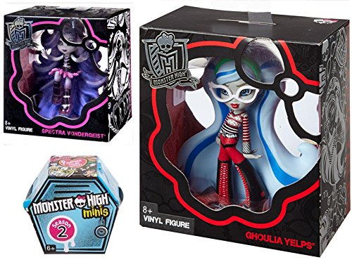 Monster High Vinyl Figures Scary Cute 2-Pack / Spectra Vondergeist & Ghoulia Yelps + Blind Box Mystery Minis Season 2
