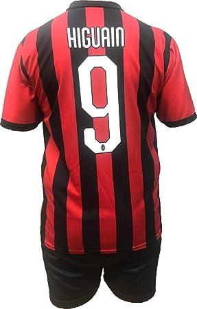 Conjunto Equipacion Camiseta Pantalones Futbol A.C. Milan Gonzalo ...